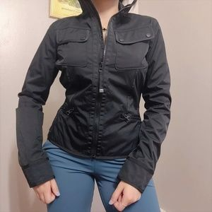RARE Lululemon Black Riding Peplum Jacket  Zip Up